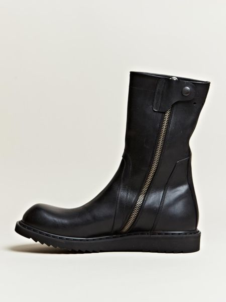 rick owens mens biker boots in black for lyst