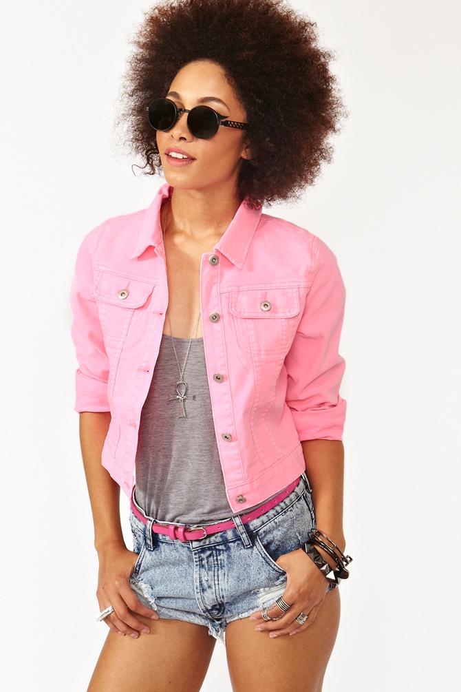 Nasty Gal Neon Denim Jacket Pink - Lyst-2546