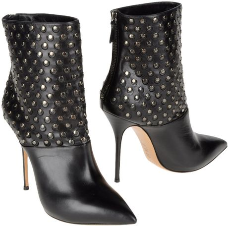 Casadei Ankle Boots in Black - Lyst