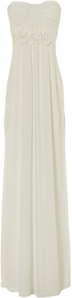 Jane Norman Maxi Prom Dress in White (cream) - Lyst