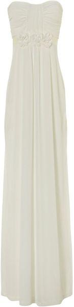 Jane Norman Maxi Prom Dress in White (cream)