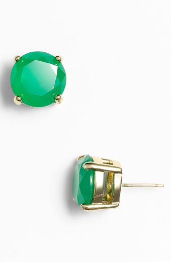 Kate Spade Colored Stone Stud Earrings - Lyst