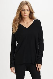 Vince Double V Cashmere Sweater - Lyst