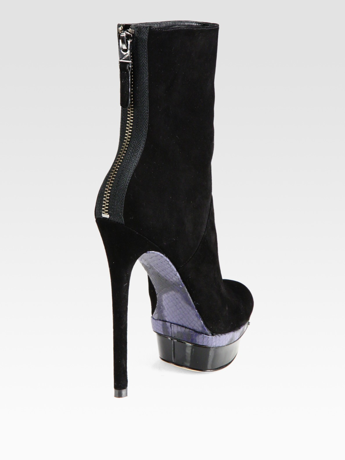 Brian Atwood Suede Platform Ankle Boots outlet official clearance latest collections MtsVR