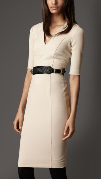 Burberry Crêpejersey Tailored Dress in Beige (trench)