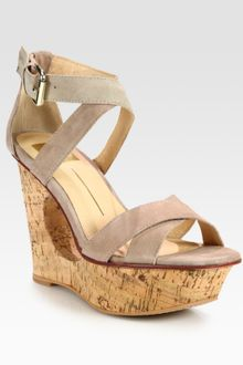 Dolce Vita Orla Suede Cut-Out Wedge Platform Sandals - Lyst