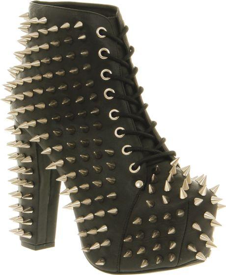 Jeffrey campbell lita all over spike black leather in black lyst - Jeffrey campbell lita spike ...