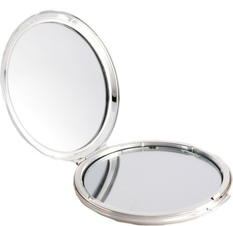 Lulu guinness lip print round mirror in white whiteandred for Large white round mirror