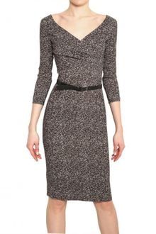 Michael Kors Herringbone Print Stretch Cady Dress - Lyst
