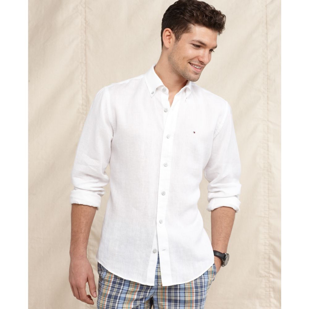 a6657de75c15 Lyst - Tommy Hilfiger Ricardo Long Sleeve Slim Fit Shirt in White ...