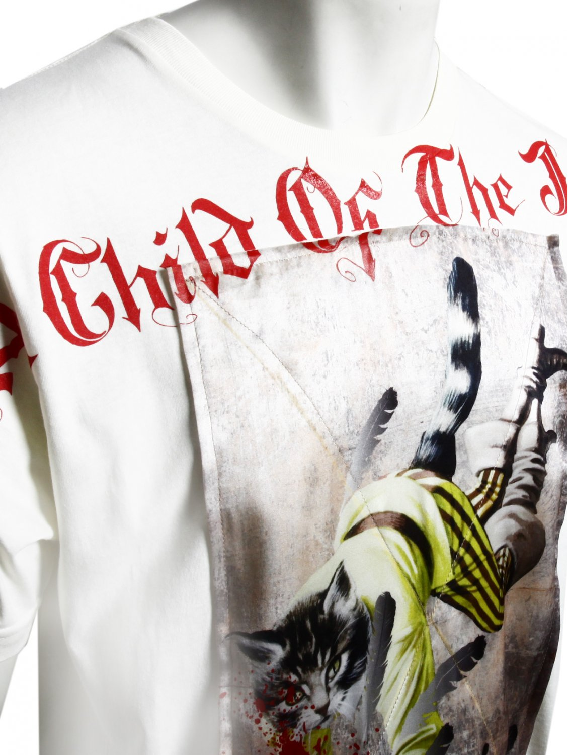 A Child Of The Jago Puss in Boots 2 Silk Patch Tshirt Ecru in Red (White) for Men