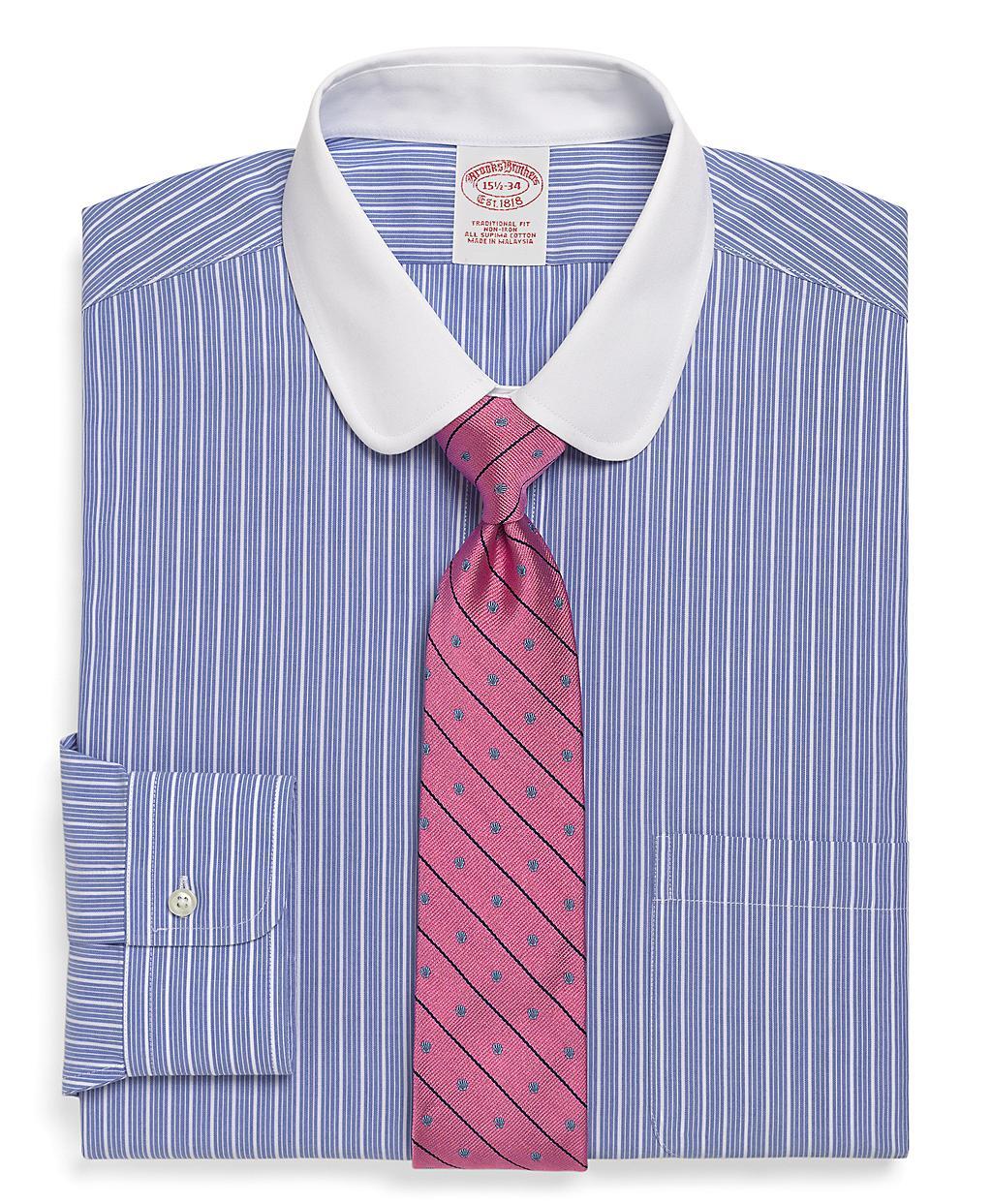 Brooks brothers supima cotton noniron traditional fit bold for Supima cotton dress shirts
