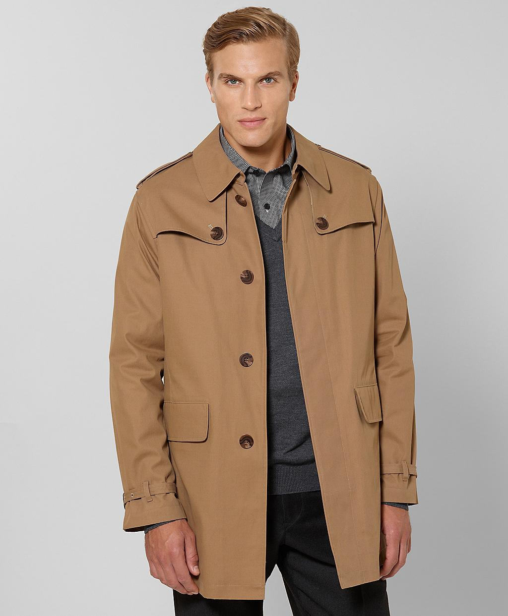 Lyst brooks brothers city trench in natural for men for Brooks brothers custom shirt