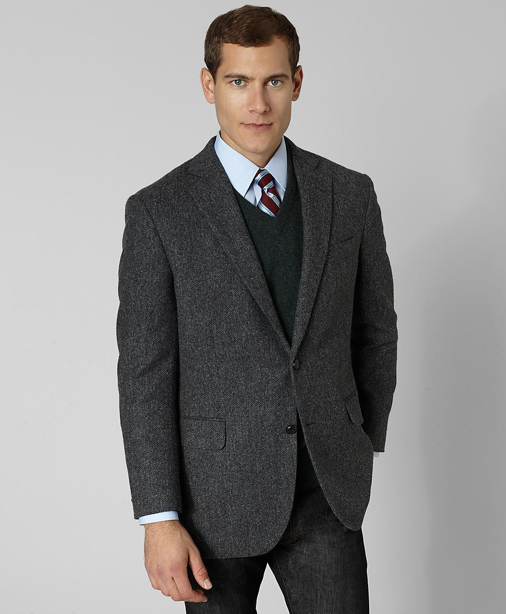 Brooks brothers Madison Fit Charcoal Herringbone Sport Coat in ...
