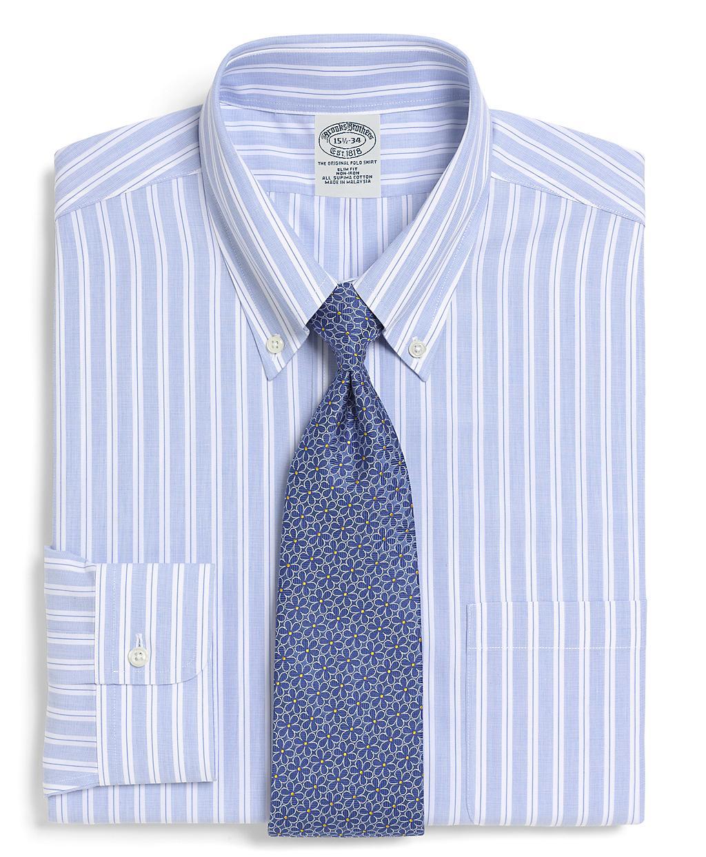 Brooks brothers supima cotton noniron slim fit split for Supima cotton dress shirts