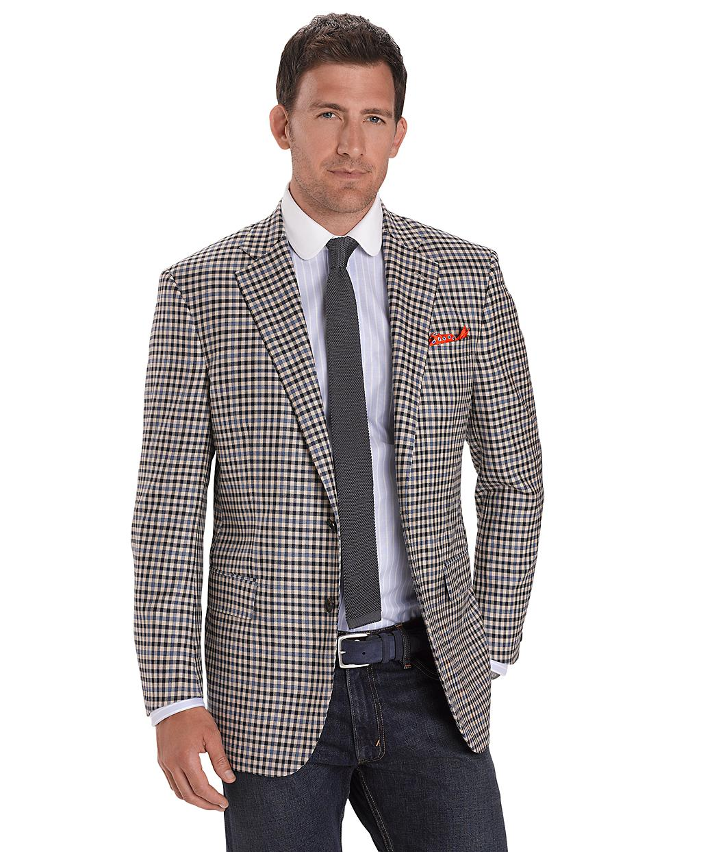 Brooks brothers madison fit twobutton glen plaid sport for Brooks brothers custom shirt