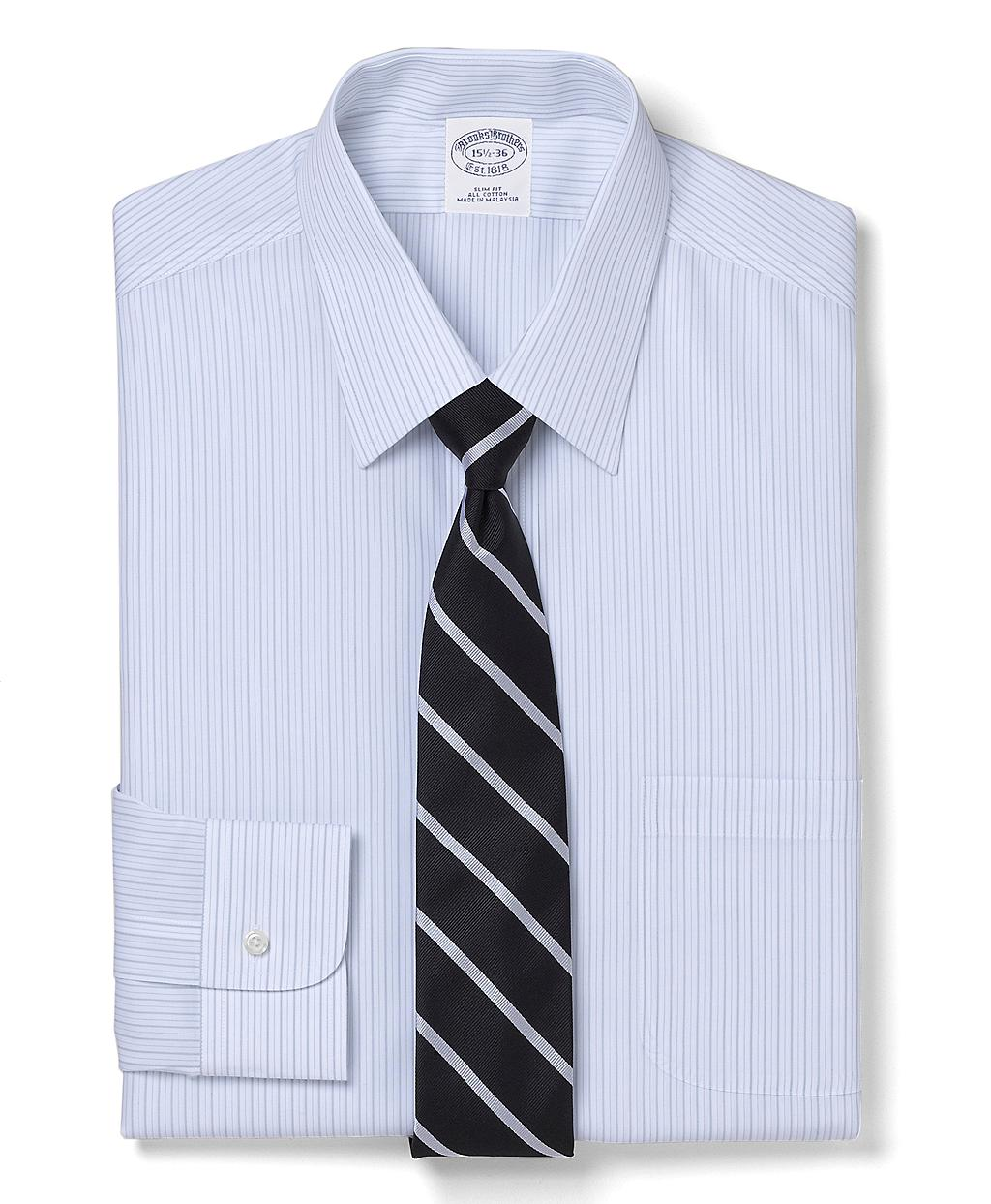 Brooks brothers supima cotton noniron slim fit thick and for Supima cotton dress shirts
