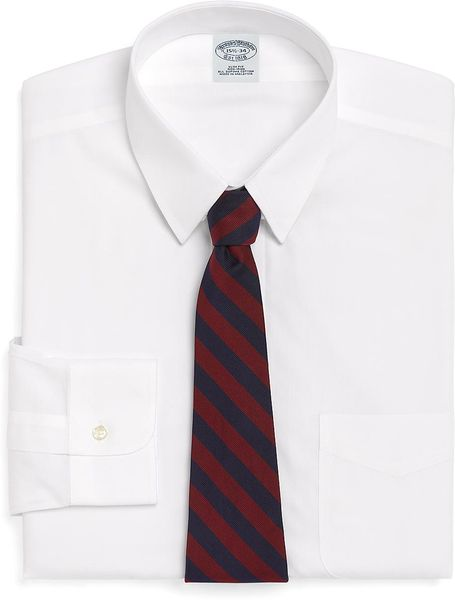 Brooks brothers non iron milano fit tab collar dress shirt for Mens tab collar dress shirts