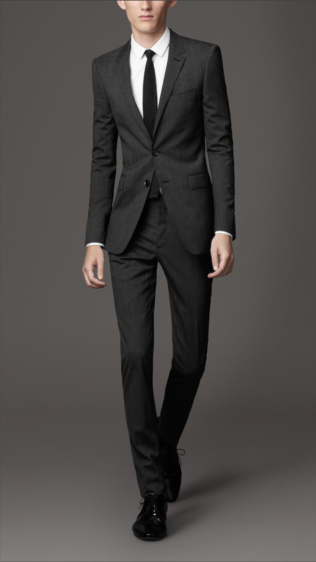 Lyst - Burberry Slim Fit Virgin Wool Prince Of Wales Check ...