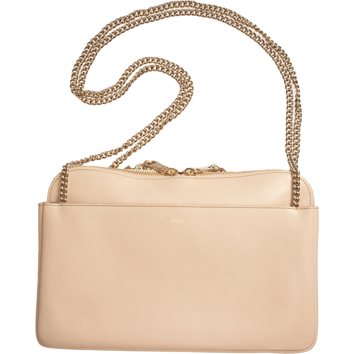 ea81c6bcf7fc Chloé Lucy Zip Bag in Natural - Lyst