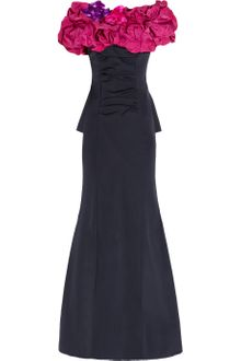 Nina Ricci Silk Radzmir and Stretch Crepe Gown - Lyst