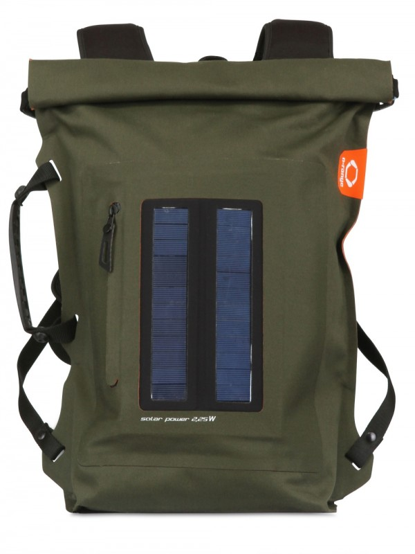 o range backpack with solar panels in green for lyst
