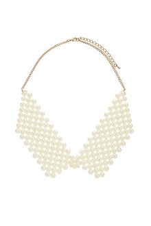 Topshop Pearl Point Collar - Lyst