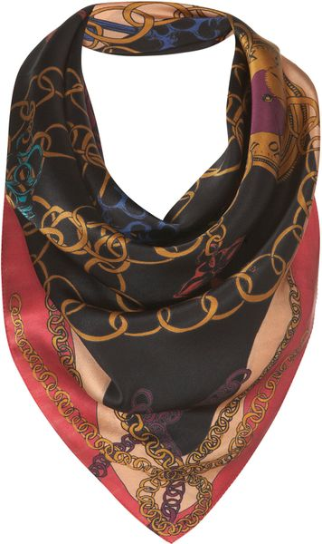 Topshop Lock and Key Scarf By Beta in Multicolor (multi)
