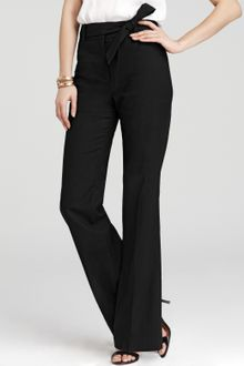 Ann Taylor Stretch Linen Twill Wide Leg Pants with Sash - Lyst