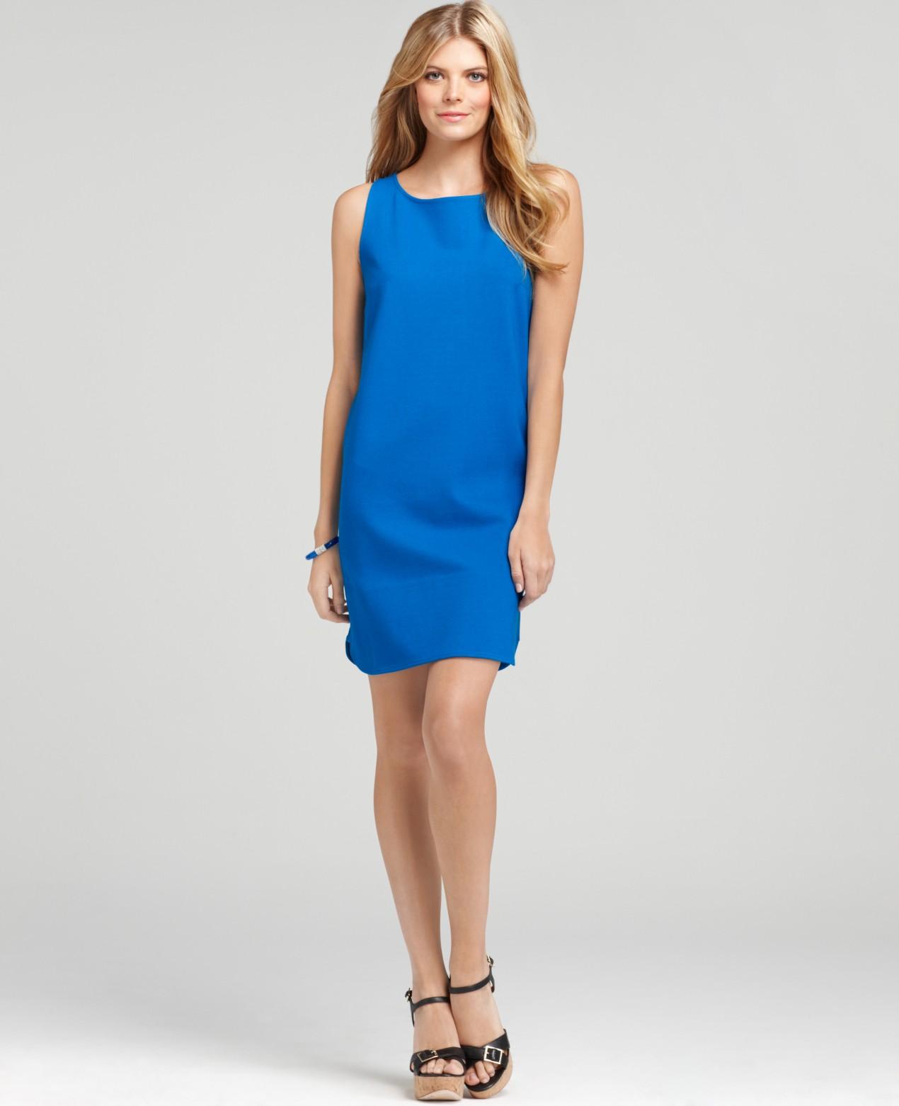 Ann Taylor Petite Poolside Shift Dress In Blue Lyst
