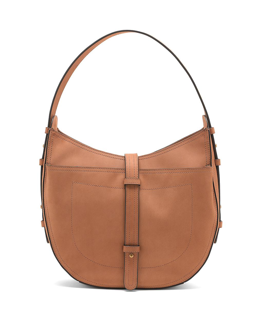 Brooks Brothers Brown Nubuck Large Hobo Bag
