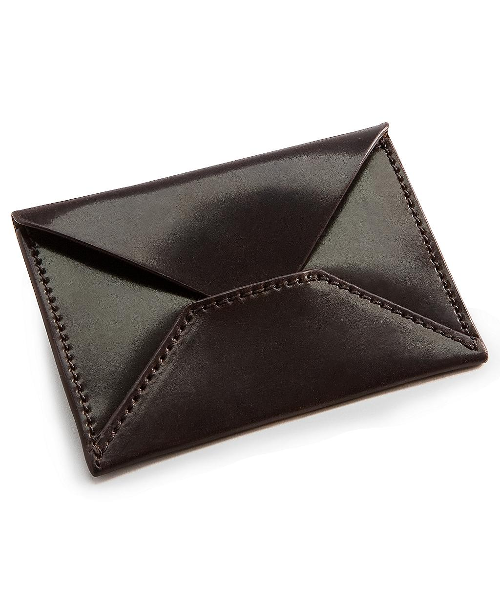 Brooks Brothers Cordovan Business Card Holder in Brown for