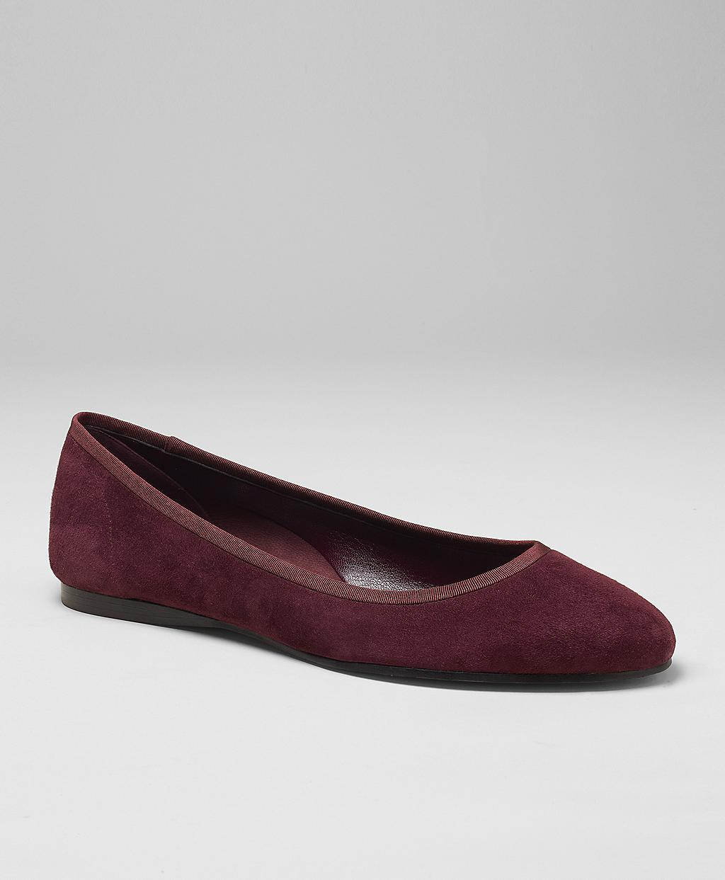 a48a1dd7693 Lyst - Brooks Brothers Kid Suede Ballet Flat in Red