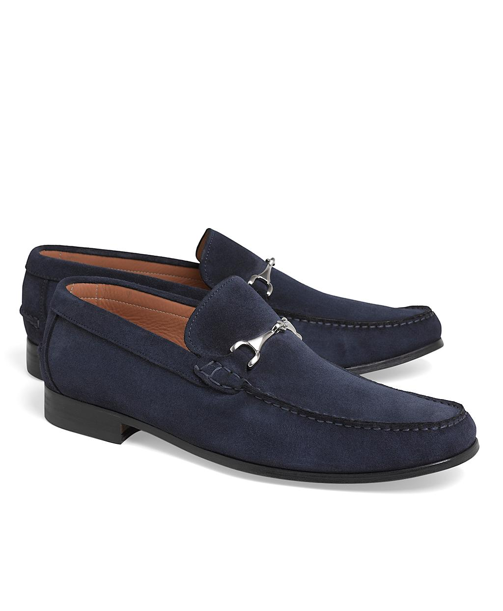 ff7f5d49754a8 Brooks Brothers Suede Buckle Loafers in Blue for Men - Lyst