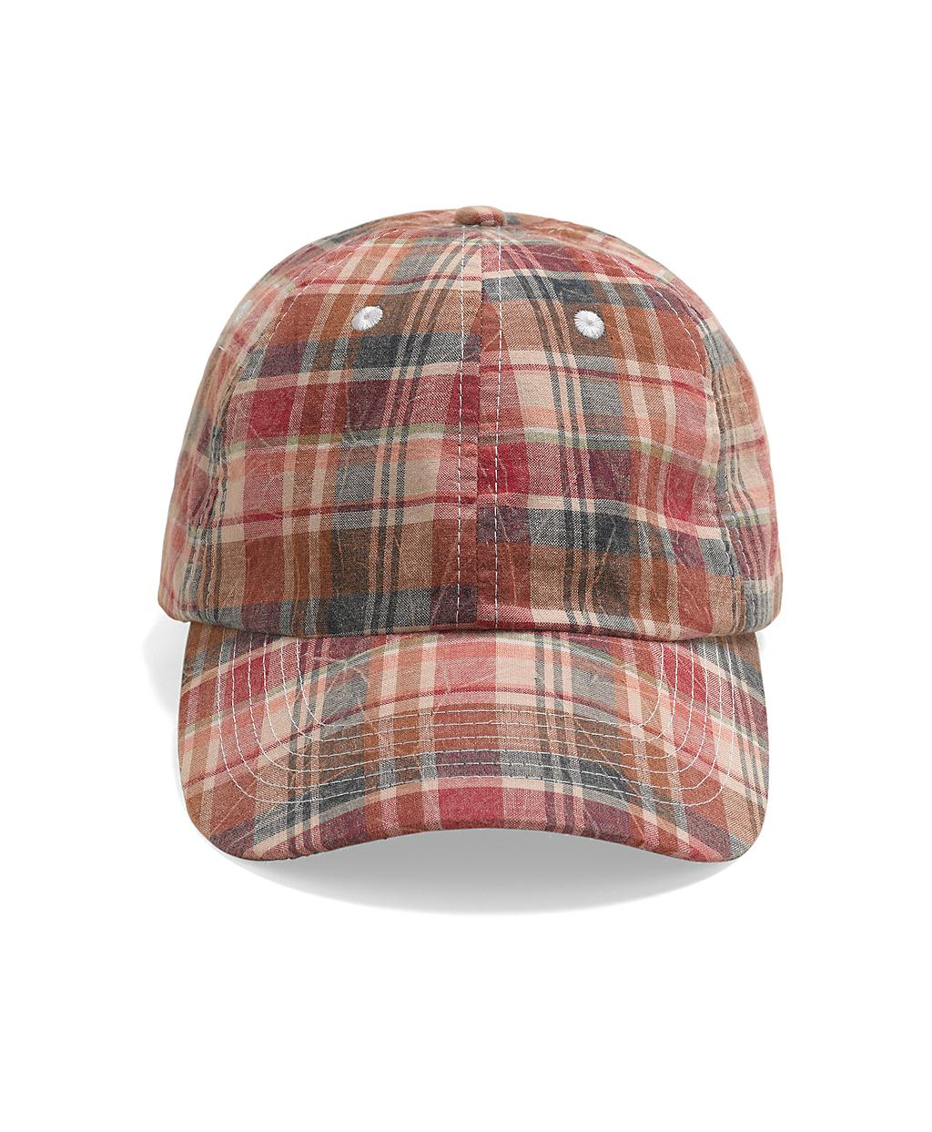 Lyst Brooks Brothers Madras Baseball Hat In Red For Men
