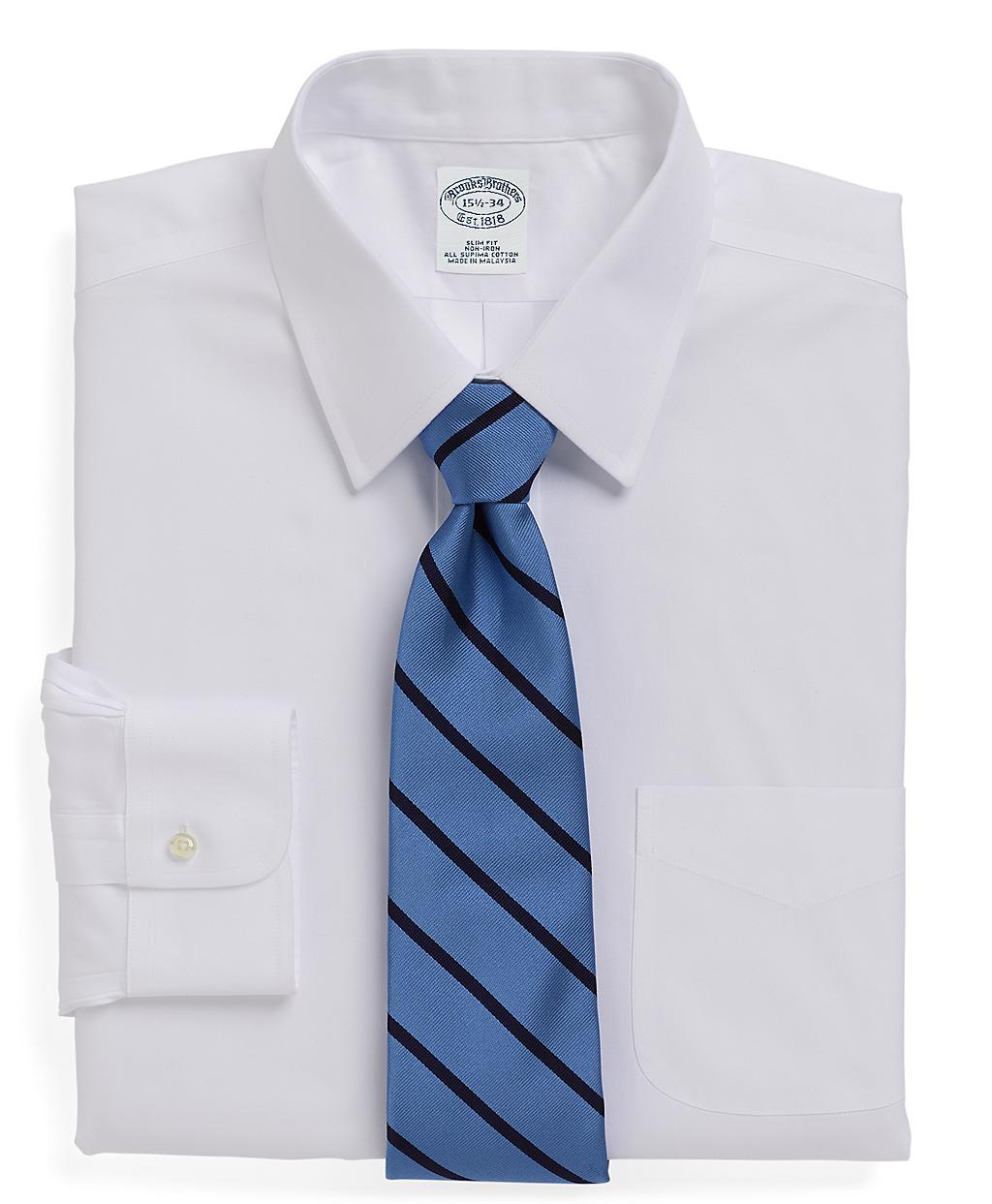 Brooks brothers supima cotton noniron slim fit forward for Supima cotton dress shirts