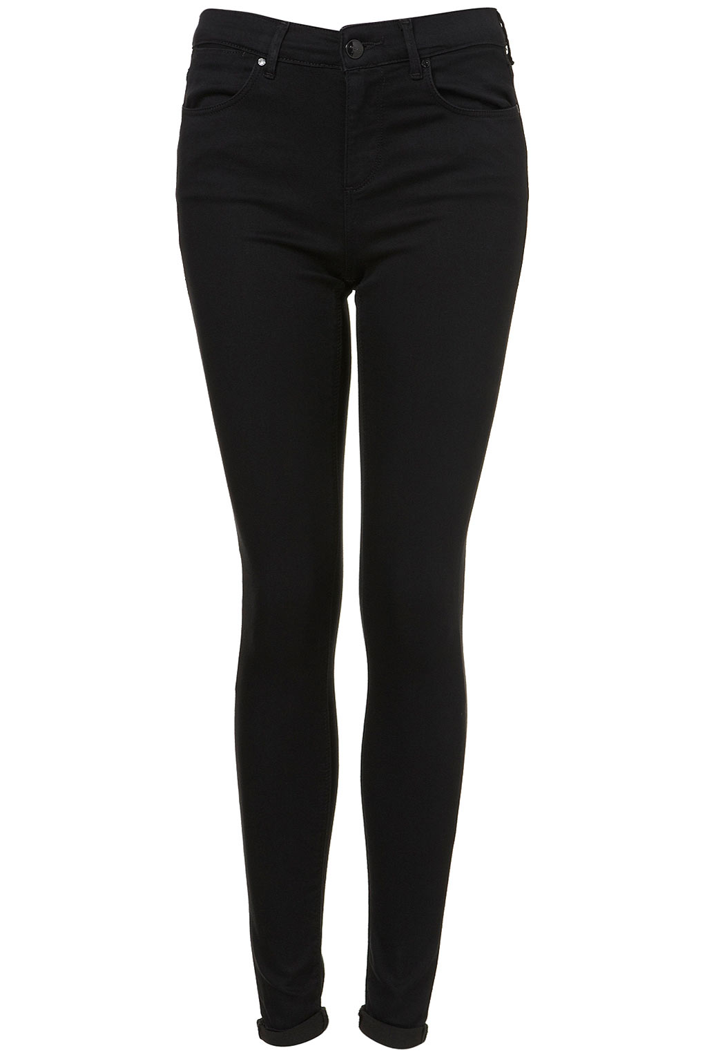 Topshop Moto Black Supersoft Skinny Leigh Jeans in Black | Lyst