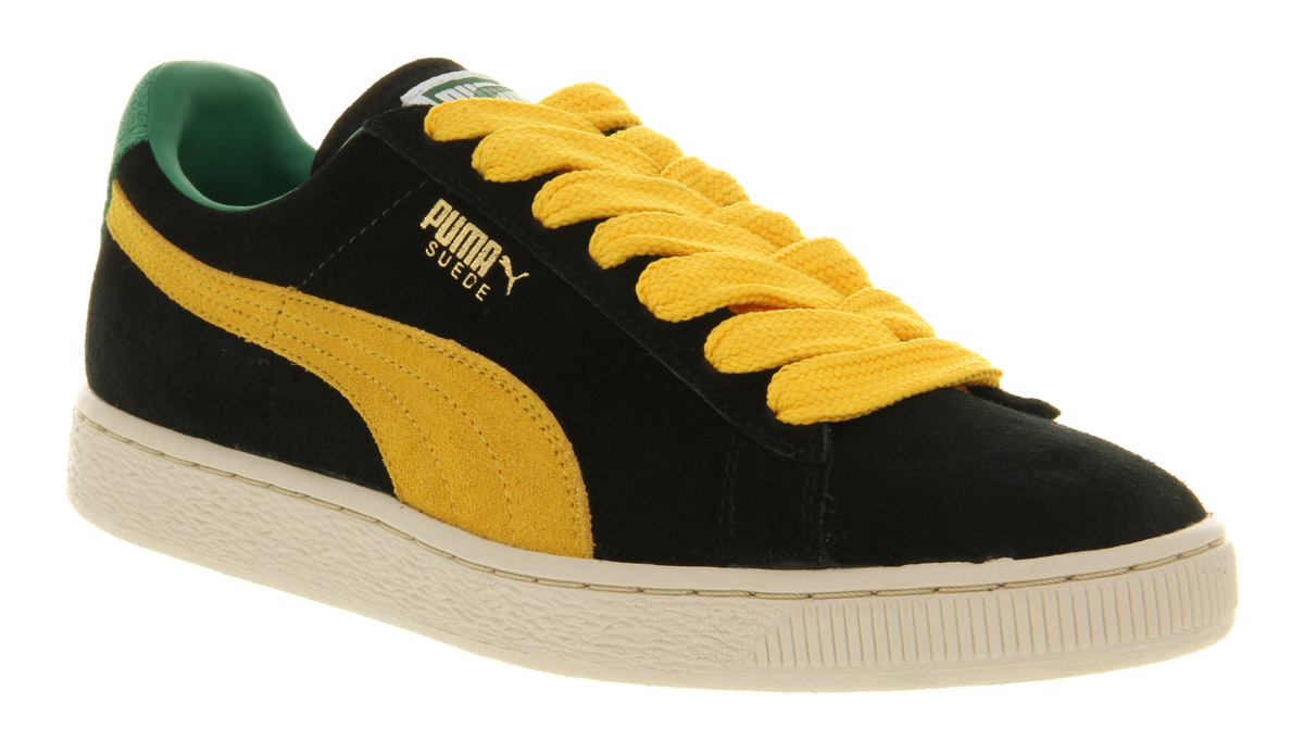 new concept 8a227 0ad73 PUMA Suede Classic Black yellow for men