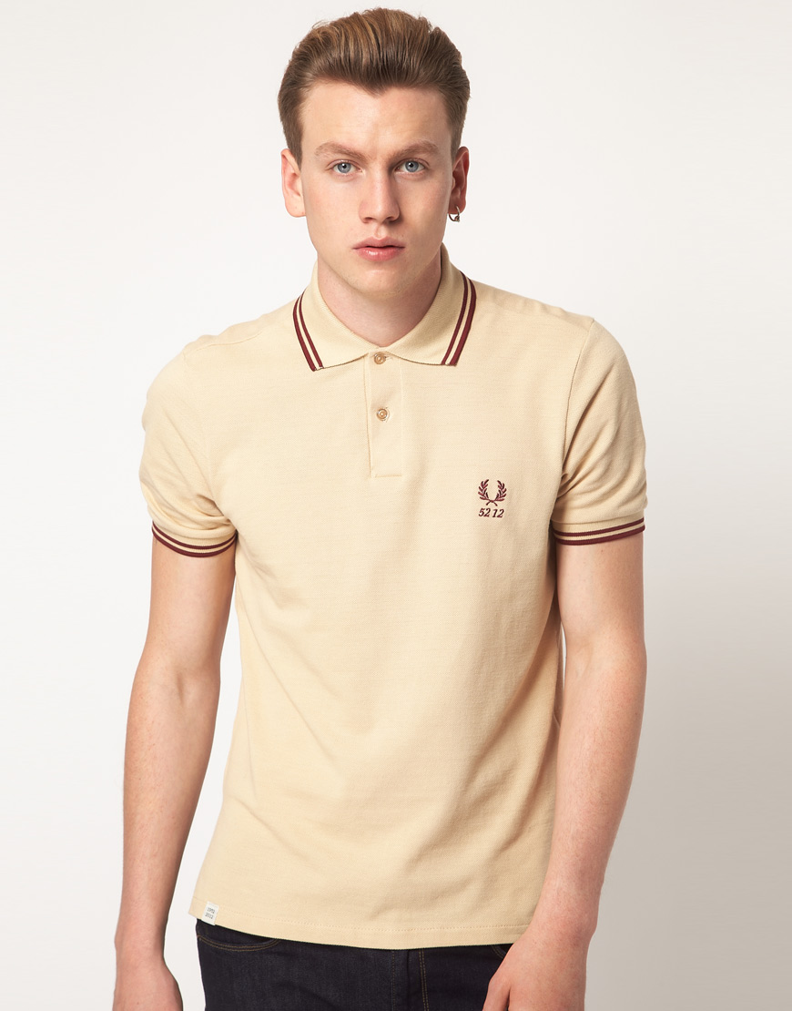 lyst fred perry polo 60th anniversary authentic in natural for men. Black Bedroom Furniture Sets. Home Design Ideas