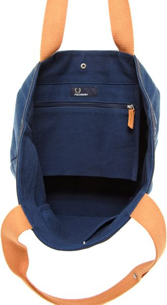 Fred Perry Tote Bag In Blue For Men Lyst