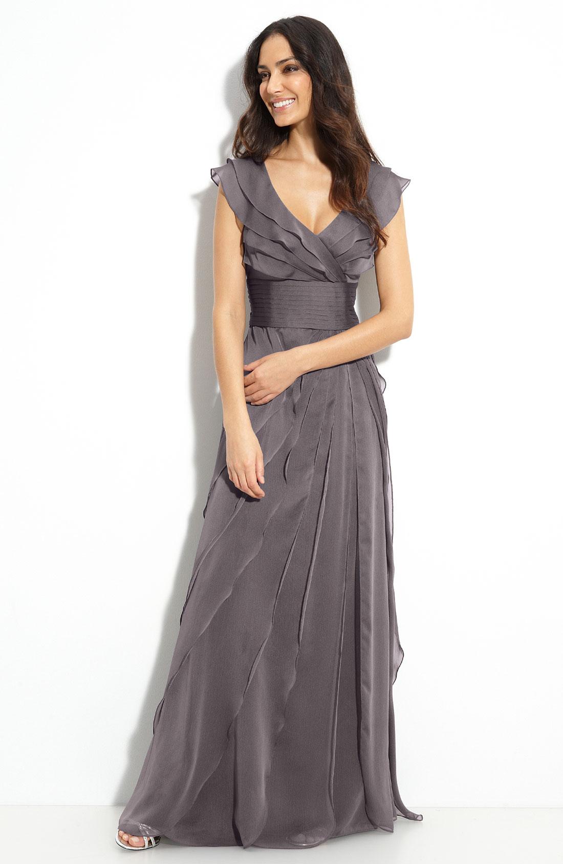 Adrianna Papell Chiffon Dress   Dress images