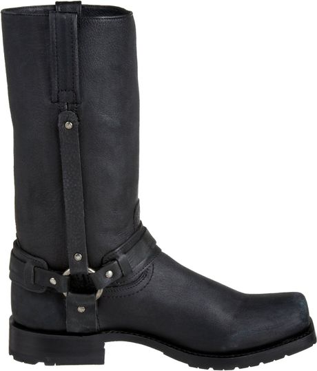 frye mens heath belted harness boot in black for lyst