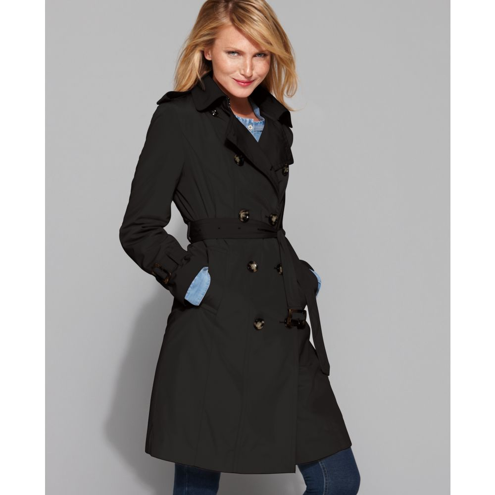 London fog heritage trench coat black