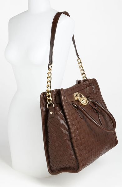 Michael Michael Kors Hamilton Large Woven Leather Tote In