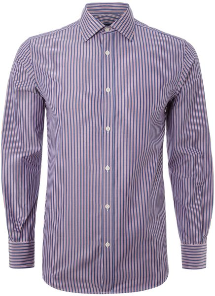 new lingwood bengal and broken stripe long sleeved shirt