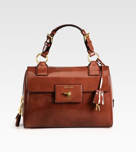 Prada Spazzolato Bag in Brown (tobacco) - Lyst