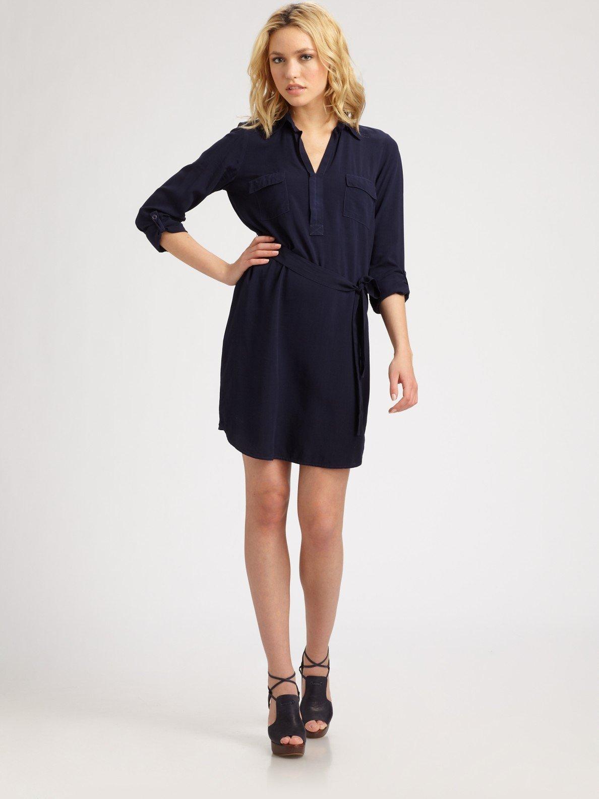 b15b04304a9 Lyst - Splendid Shirting Dress in Blue