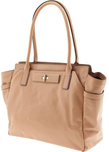 Banana Republic Elena Leather Tote In Beige Light Camel
