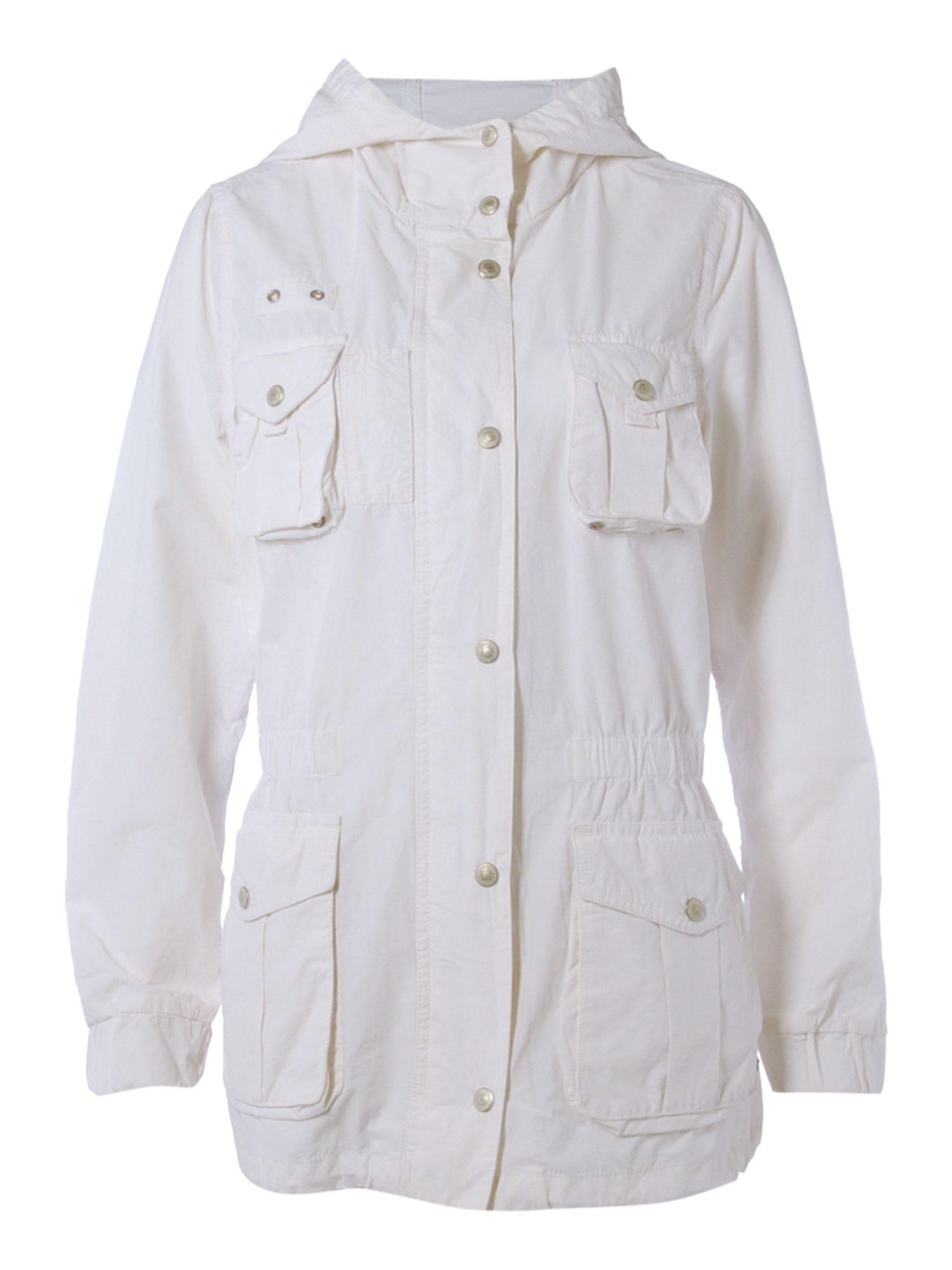 Denim &amp supply ralph lauren Parka Coat in White | Lyst