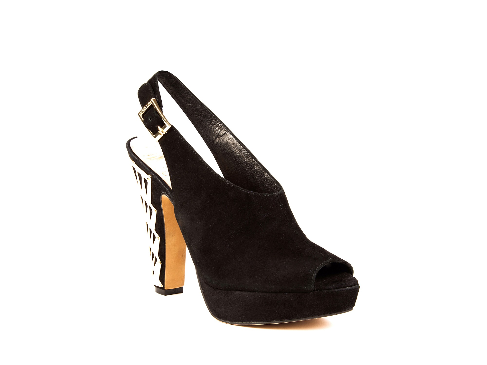 Vince Camuto Sling Back Peep Toe Sandals Duran High Heel